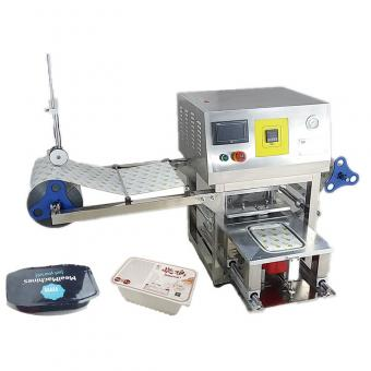 plastic food tray sealing machine